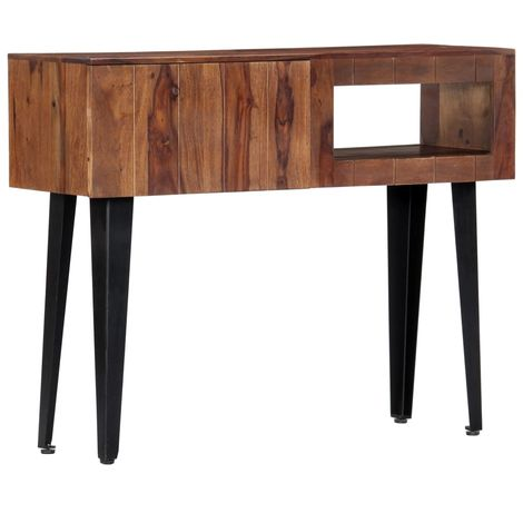 Console Table 90x30x75 cm Solid Sheesham Wood