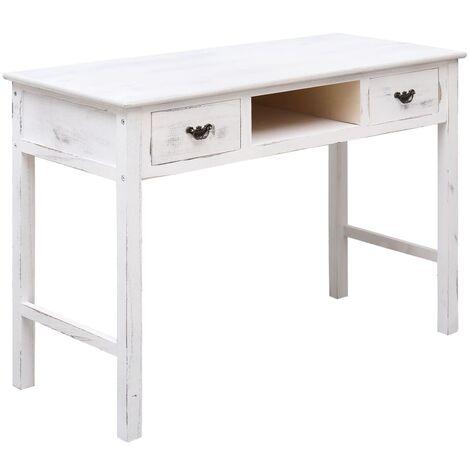 Console Table Antique White 110x45x76 cm Wood