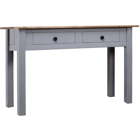 Console Table Grey 110x40x72 cm Solid Pine Wood Panama Range