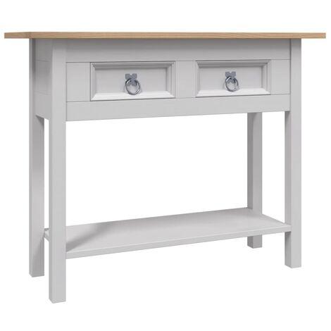 Console Table Mexican Pine Corona Range Grey 90x34.5x73 cm