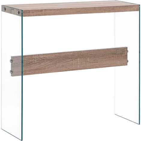 Console Table Oak 82x29x75.5 cm MDF