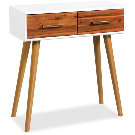 Console Table Solid Acacia Wood 70x30x75 cm