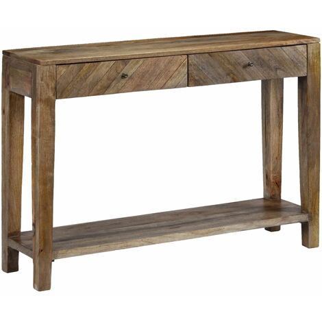 Console Table Solid Mango Wood 118x30x80 cm