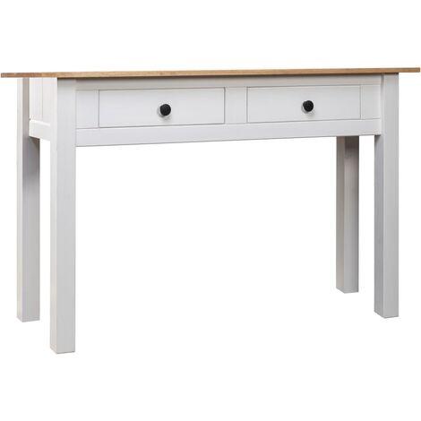 Console Table White 110x40x72 cm Solid Pine Wood Panama Range