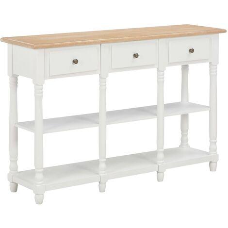 Console Table White 120x30x76 cm MDF - White