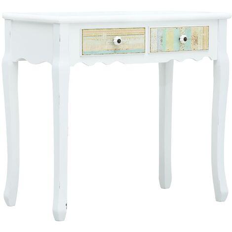 Console Table White 80x40x74 cm Wood - White