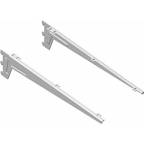 Consoles blanches pour plan de toilette 450mm droite et gauche