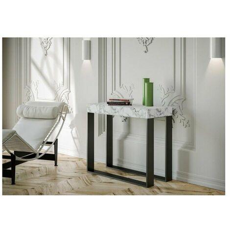 Consolle allungabile elettra realizzata con struttura in metallo e piano in legno in varie finiture