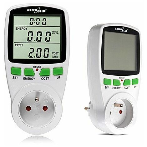 Consomètre, prise avec mesure d'énergie - Greenblue