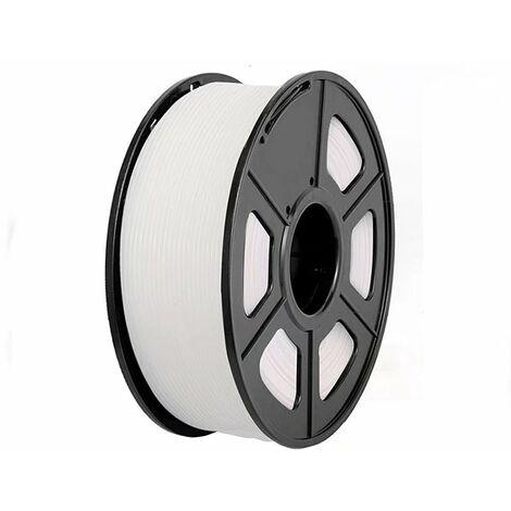 Consommables d'impression 3D Consommables PLA d'imprimante 3D Consommables de filament d'imprimante 3D poids net 1 kg blanc