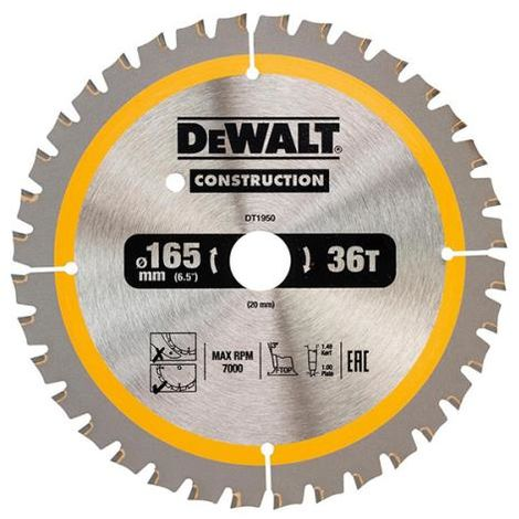 Construction Circular Saw Blade for use with Stationary Machines