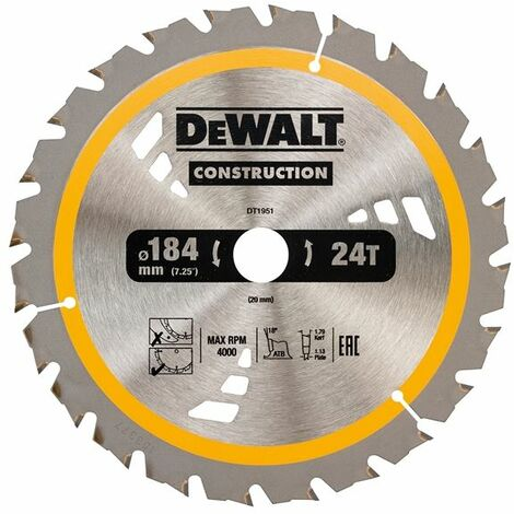 Construction Circular Saw Blades 184mm