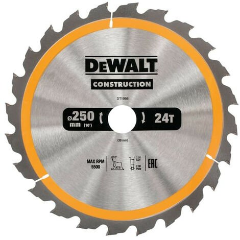 Construction Circular Saw Blades 250mm