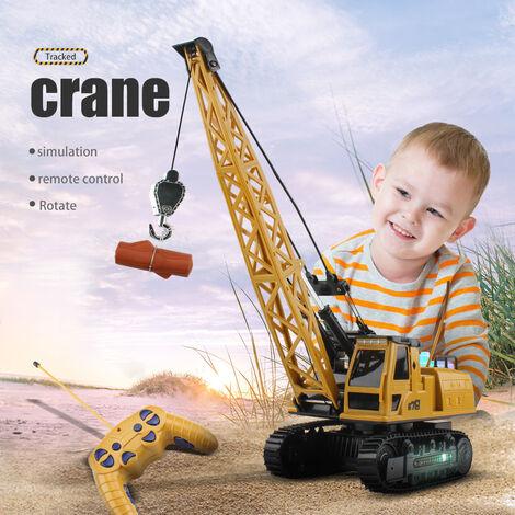 Construction Electrique Telecommande Grue Musique Audio Lumiere Coloree 360 ??Degres De Rotation Pour Les Enfants Enfants