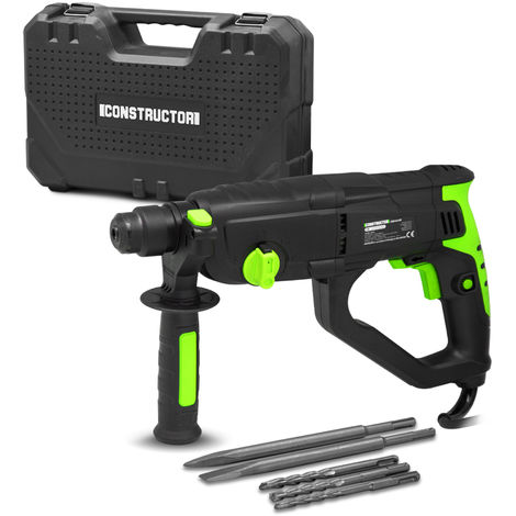 CONSTRUCTOR CRMD1054-BM - Taladro martillo/cincelador 1050W con estuche y accesorios, 5 a�os de garant�a