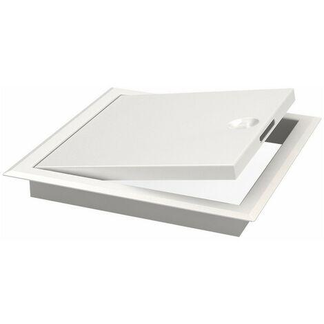 CONSTRUSIM C6746060 - Trampilla registro metalica lacada con llave 600x600 mm