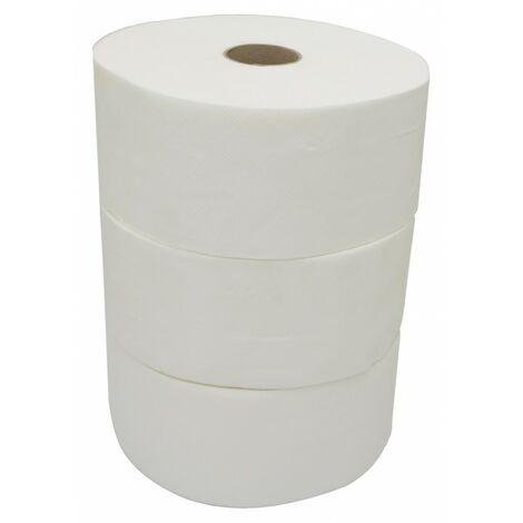 Consumible rollo de papel higiénico industrial jumbo (pack 3 uds.) - CM Baños