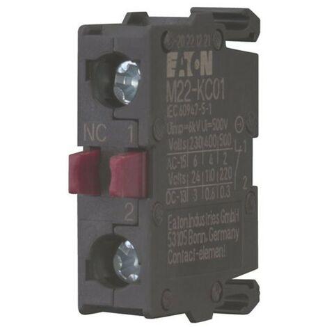 Contact auxiliaire Eaton M22-KC01 NC Vis de Fixation de la base 216382