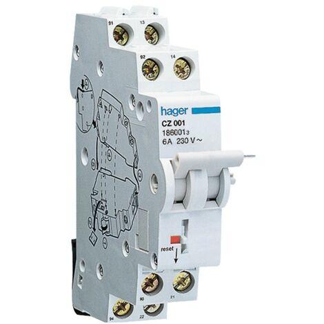 Contact auxiliaire Hager pour un interrupteur Différentiel de pure CZ001