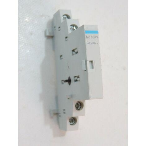 Contact auxiliaire pour disjoncteur moteur 1O+1F 230V HAGER MZ520N