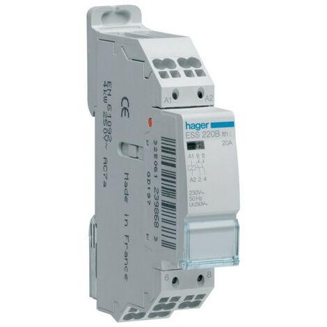 Contacteur 20A 2F 230V (HAG ESS220B)