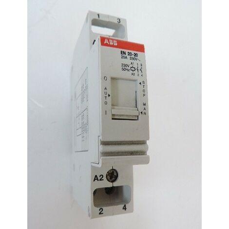 Contacteur 20A jour/nuit 2P contact 2NO (2F) modulaire avec commande manuelle EN20-20 20A ABB 26506