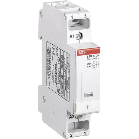Contacteur ABB ESB 20-20 GH E321 1102 R 0006 2 NO (T) 1.3 kW 230 V/AC 9 A 1 pc(s)