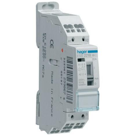 Contacteur cde manu. 20A 2F 230V (ESS221B)