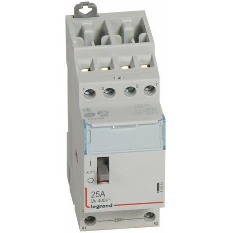 Contacteur de puissance bobine 230 V~ - 4P - 250 V~ - 25 A - 4F - 2 mod