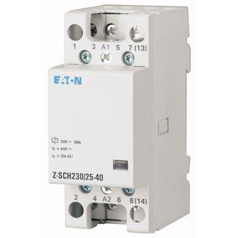 Contacteur dinstallation Eaton Z-SCH230/25-04 248848 Tension nominale: 230 V, 240 V Courant de commutation (max.): 25 A