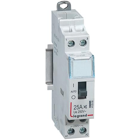 Contacteur domestique silencieux - 230 V~ - 2P - 250 V~/25 A - O+F