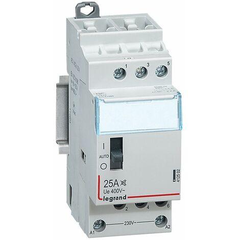 Contacteur domestique silencieux - 230 V~ - 3P - 400 V~/25 A - 3F
