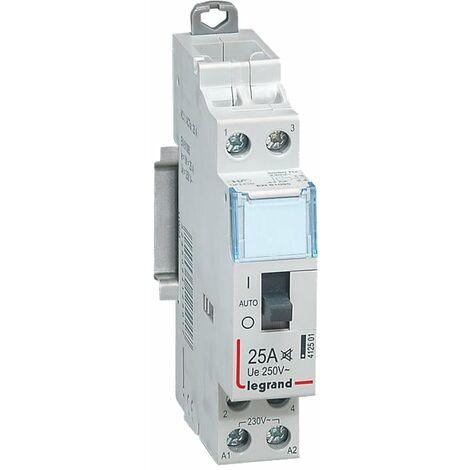 Contacteur domestique silencieux 250V 25A Contact 2F - 1 module - Legrand