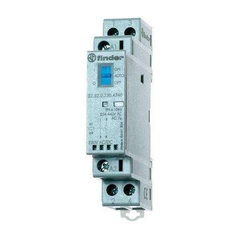 Contacteur Finder 22.32.0.012.4340 2 NO (T) 12 V/DC, 12 V/AC 25 A 1 pc(s)