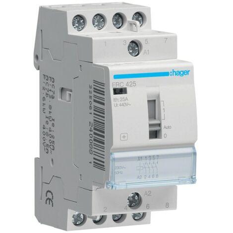 Contacteur Hager 4NA 230V commutateur manuel ERC425