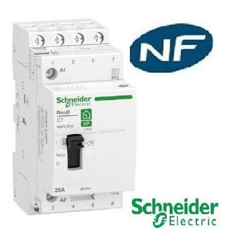 Contacteur heures creuses pour chauffe-eau - 25A -4NO -Rési9-Schneider R9PCTH4