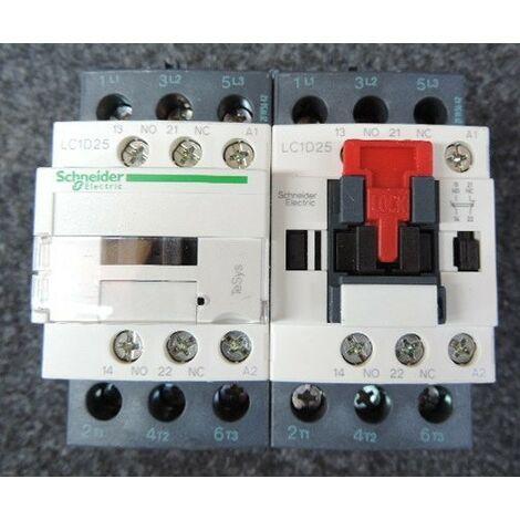 Contacteur inverseur 3P AC 3 440V 25A bobine 110Vca TeSys LC2D SCHNEIDER LC2D25F7