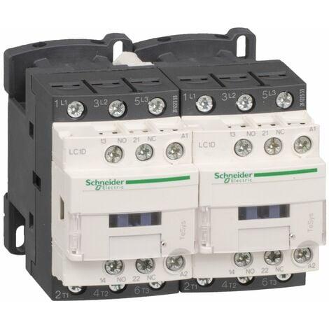 Contacteur inverseur TeSys LC2D 3P AC3 440V 12 A bobine 24 V CA - LC2D12B7