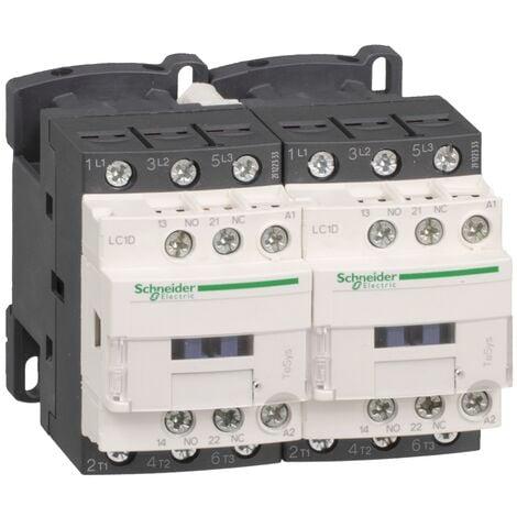 Contacteur inverseur TeSys LC2D 3P AC3 440V 18 A bobine 230 V CA - LC2D18P7