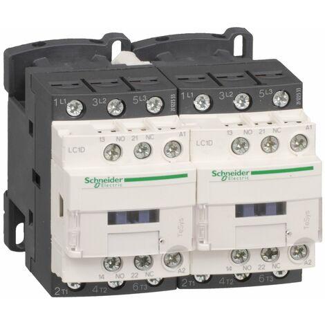 Contacteur inverseur TeSys LC2D 3P AC3 440V 9 A bobine 24 VCC - LC2D09BD