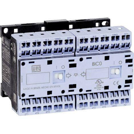 Contacteur-inverseur WEG CWCI09-01-30C03S 12682092 6 NO (T) 4 kW 24 V/DC 9 A avec contact auxiliaire 1 pc(s)
