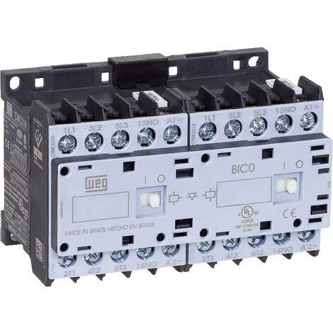 Contacteur-inverseur WEG CWCI09-01-30D24 12680854 6 NO (T) 4 kW 230 V/AC 9 A avec contact auxiliaire 1 pc(s) Y063901