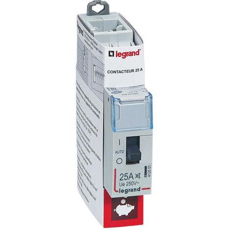 Contacteur pour tarifs heures creuses - Bipolaire 230 V alternatif 25A 1 module