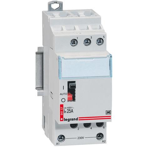 Contacteur pour tarifs heures creuses - Tripolaire 400 V alternat. 20A 2 modules