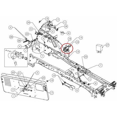 Contacteur poussoir tracteur tondeuse Cub Cadet / MTD