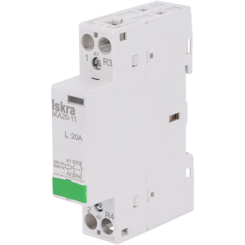 Contacteur modulaire 63 amp/ères 4P 230 V sur rail DIN 2NO+2NC