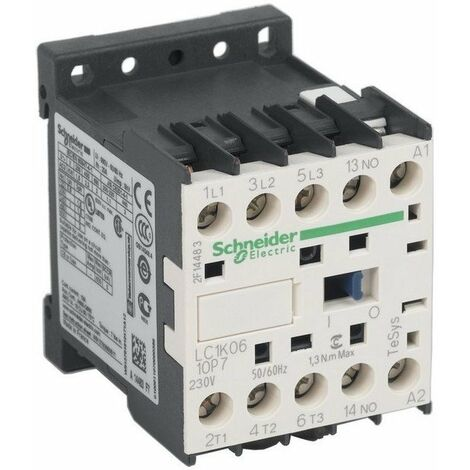 Contacteur TeSys LC1K - bobine 230VAC - 3P AC3 440V - 2,2kW - 3F