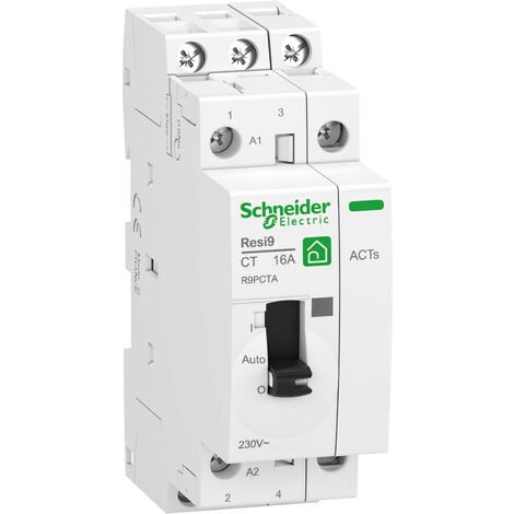 Contacteur Wiser auxiliaire resi9 Schneider Electric 2NO 20a