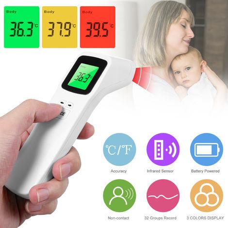 Contacto frente del oido del termometro infrarrojo portatil Mini bebe no digital de medicion de temperatura, para nioos y adultos de los nioos