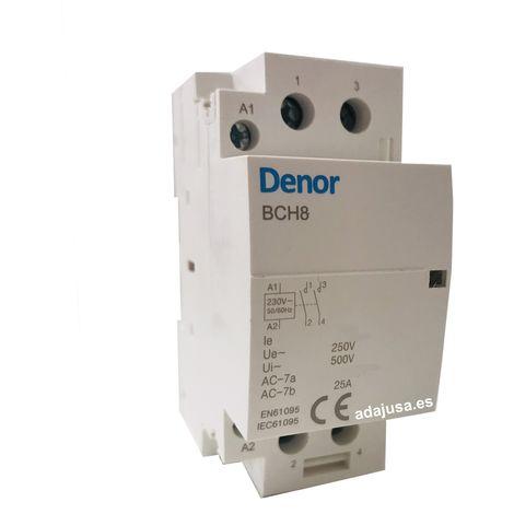 Contactor modular 63A 2Polos abiertos 230Vac